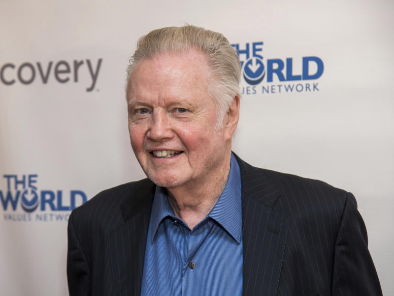 FILE - In this March 28, 2019, file photo, Jon Voight attends the Champions of Jewish Values International Awards gala at Carnegie Hall in New York. Oscar-winning actor Voight, singer and musician Alison Krauss and mystery writer James Patterson are among those being honored by President Donald Trump for their contributions to the arts or the humanities. The White House announced four recipients of the National Medal of Arts and four of the National Humanities Medal Sunday night, Nov. 17, 2019. (Photo by Charles Sykes/Invision/AP, File)