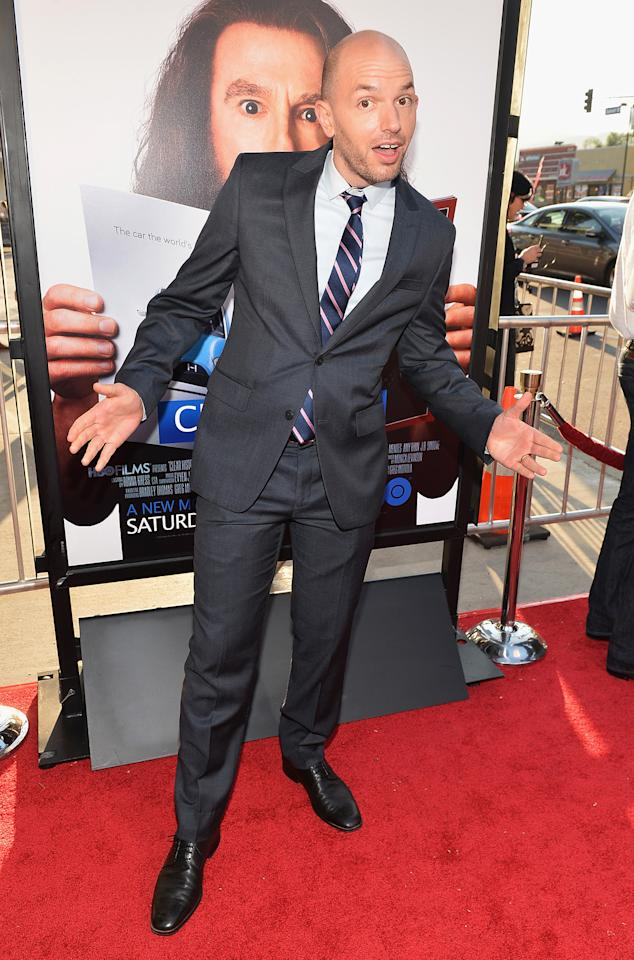 "Paul Scheer arrives at the premiere of HBO Films' ""Clear History"" at ArcLight Cinemas Cinerama Dome on July 31, 2013 in Hollywood, California.o"