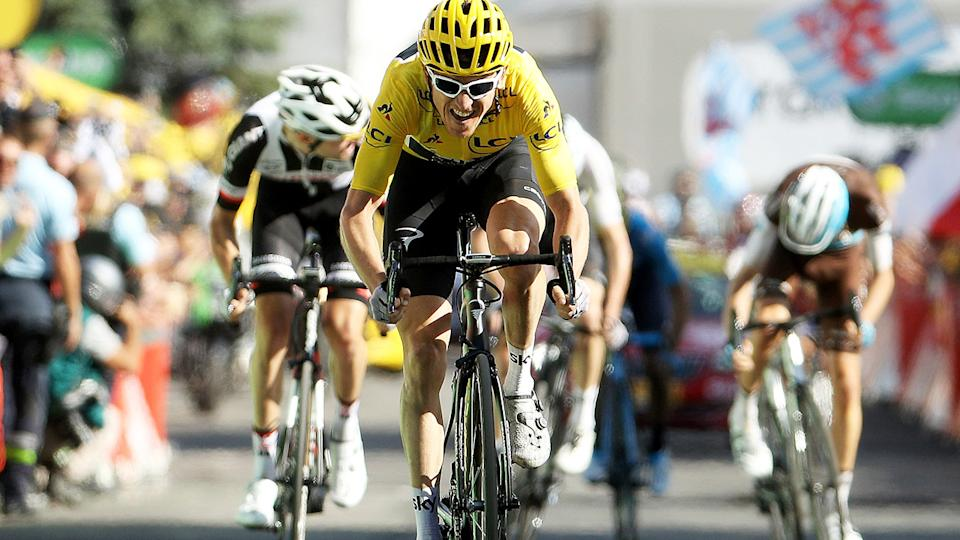 Geraint Thomas, pictured here in action during the 2018 Tour de France.