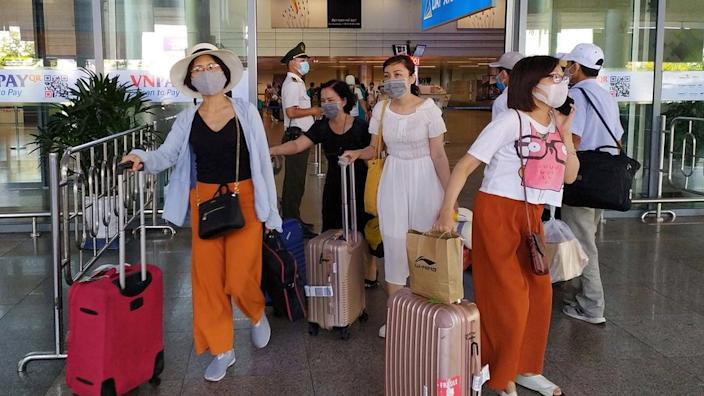 Around 80,000 domestic tourists are are thought to have been in Da Nang recently