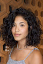 The right haircut can emphasize your natural texture, like this classic lob and face frame combo.