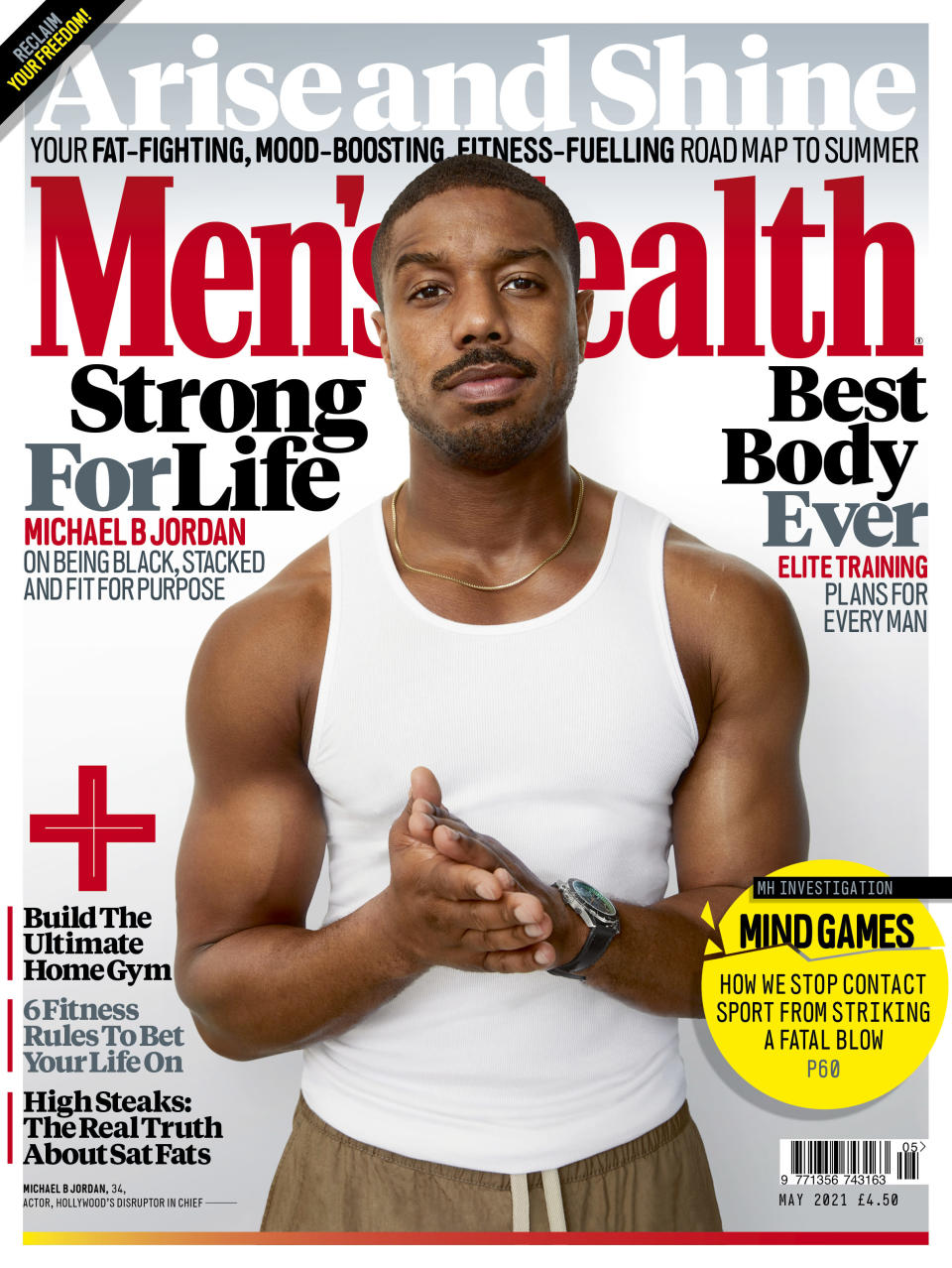 Michael B Jordan is the cover star for Men's Health UK ('Leonardo Volcy / Men's Health' )