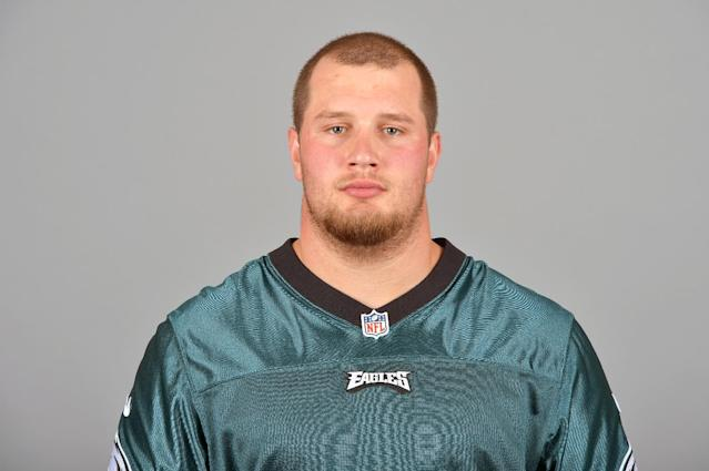 This is a photo of Lane Johnson of the Philadelphia Eagles NFL football team. This image reflects the Philadelphia Eagles active roster as of Wednesday, June 18, 2014. (AP Photo)