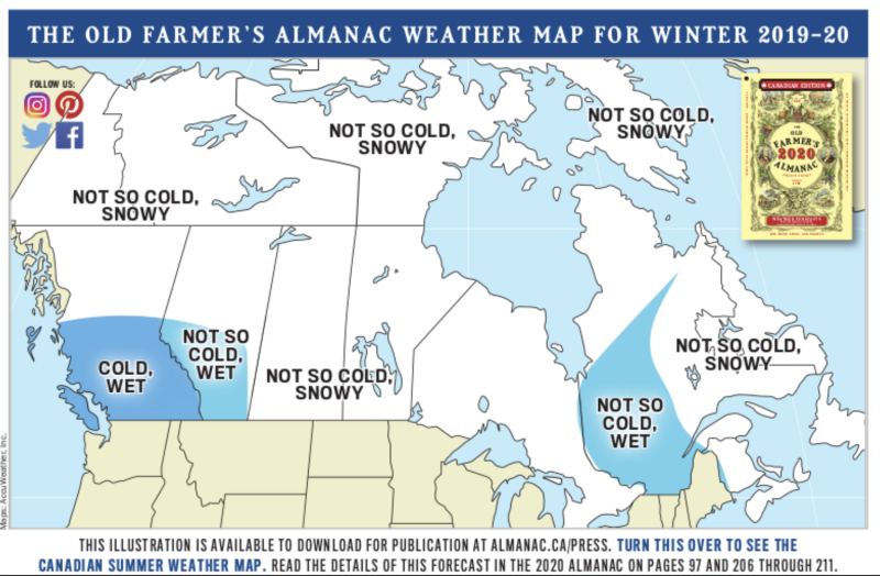 The game of snows': Old Farmer's Almanac tells Canadians