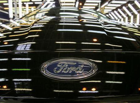 FILE PHOTO: A finished Ford Focus is seen at a Ford Sollers, U.S. carmaker Ford's joint venture with Russian partners, factory in Vsevolozhsk, Leningrad region, Russia July 7, 2015. REUTERS/Igor Russak/File Photo