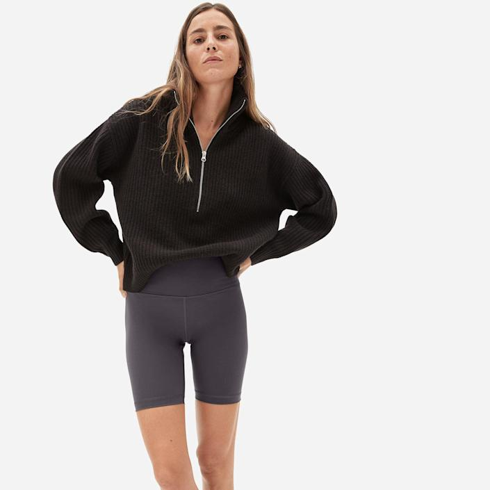 <p>Customers love these comfy and cool <span>Everlane Perform Bike Shorts</span> ($38).</p>