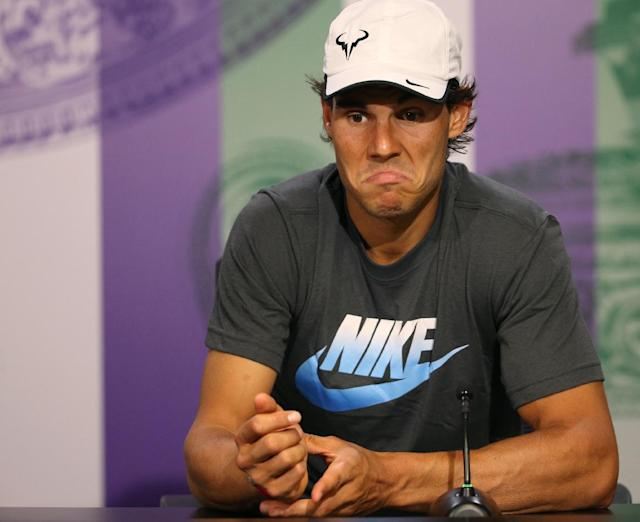 At his press conference, Nadal waxed philosophical about how great it is when you're young, have nothing to lose and can play freely, as well as what a huge serve can do for you on grass. (AP Photo/AELTC, Scott Heavey)