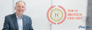 """LifeLabs' President and CEO, Charles Brown, has been named as one of the """"Top 25 Biotechnology CEOs of 2021"""" by The Healthcare Technology Report."""