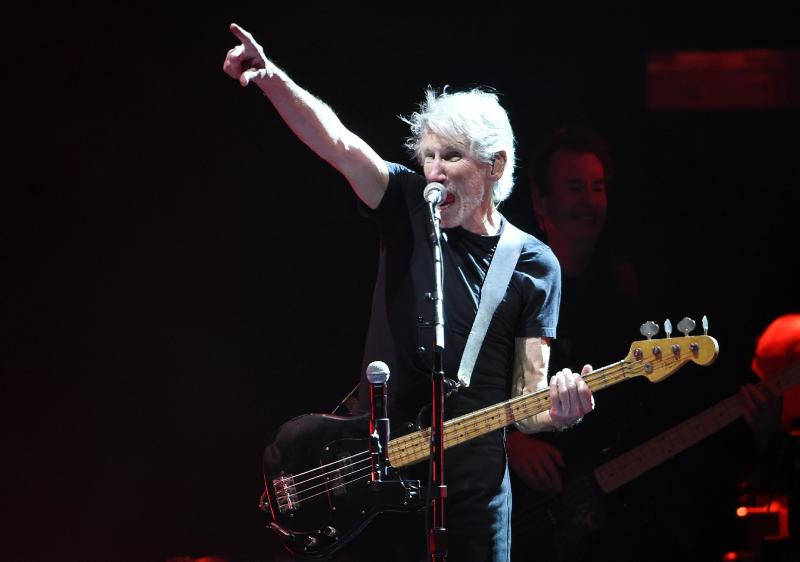 Roger Waters performs on day 3 of the 2016 Desert Trip music festival at Empire Polo Field on Sunday, Oct. 9, 2016, in Indio, Calif. (Photo by Chris Pizzello/Invision/AP)