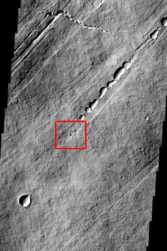Seventh graders in California discovered a new cave on a Martian volcano as part of the Mars Science Imaging Project.
