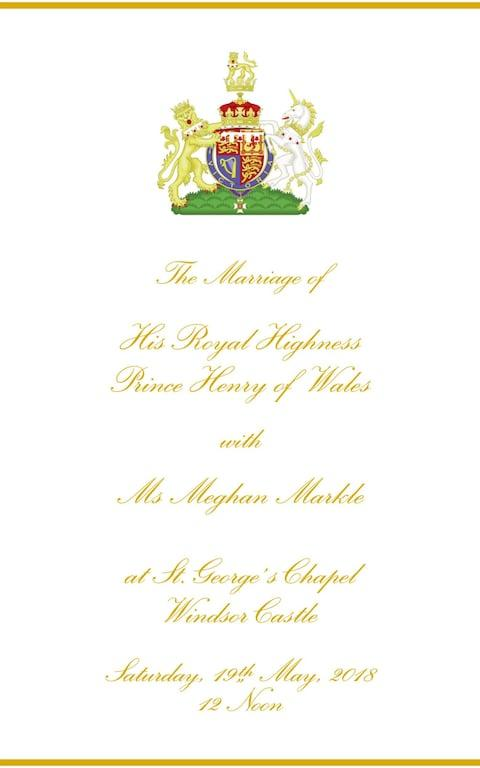 Page one of the order of service