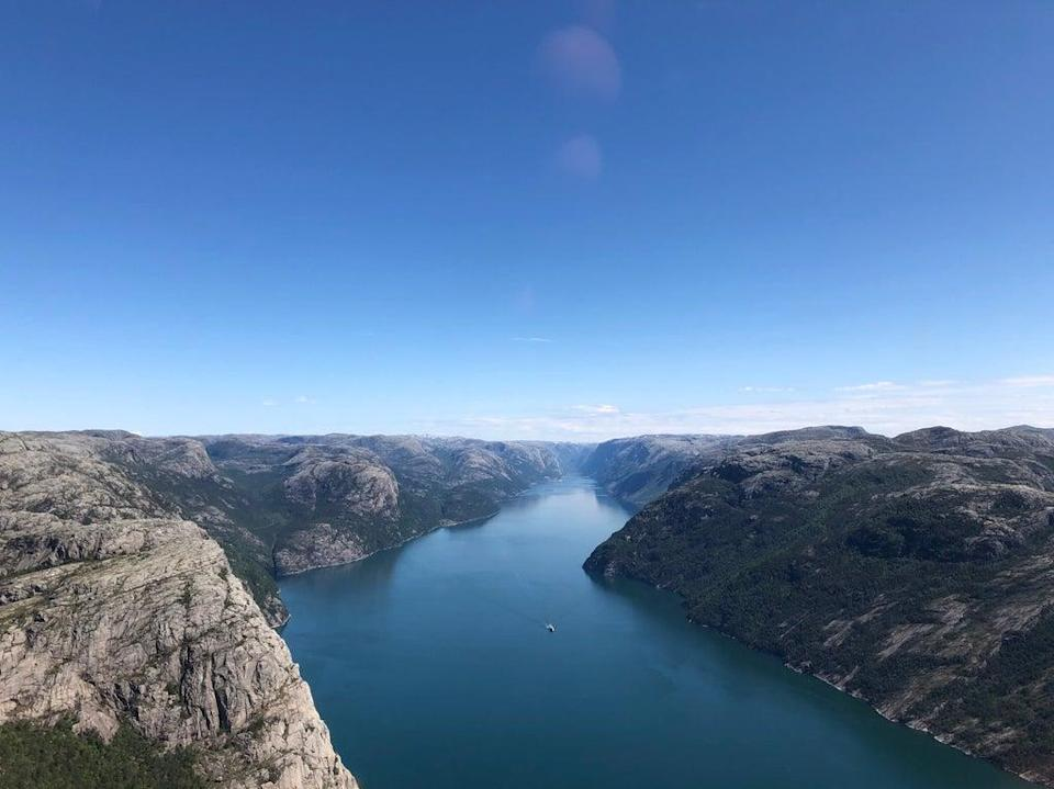 Clean hydropower from water flowing Norway's mountains to fjords will power UK homes (Emily Beament/PA)