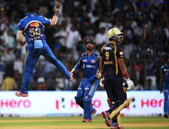 KKR recorded the lowest team total of IPL 2008