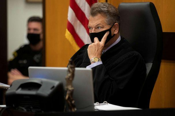 PHOTO: Sacramento Superior Court Judge Michael Bowman listens to a speaker on the first day of victim impact statements at the Gordon D. Schaber Sacramento County Courthouse in Sacramento, Calif., Aug. 18, 2020. (Santiago Mejia/Pool via Reuters)