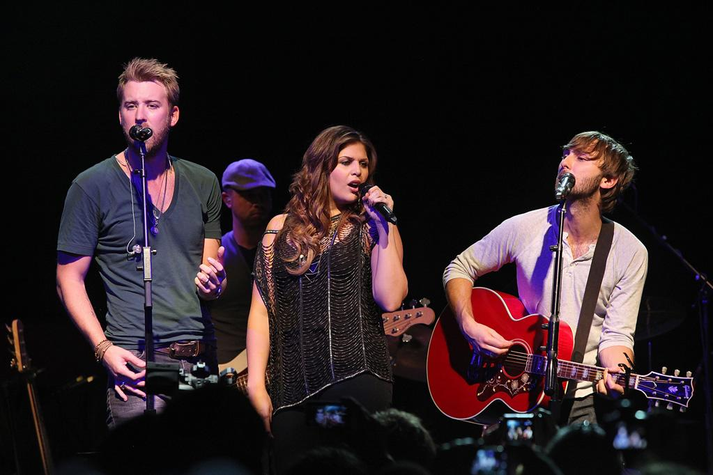 """On September 13 of this year, Charles Kelley, Hillary Scott, and Dave Haywood of Lady Antebellum released their third studio album, <i>Own the Night</i>, which debuted atop the charts, selling a whopping 347,000 copies in its first week. Roger Kisby/<a href=""""http://www.gettyimages.com/"""" target=""""new"""">GettyImages.com</a> - September 13, 2011"""