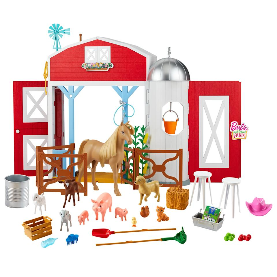 This farm barn Barbie set might inspire the independent play parents everywhere need right now.