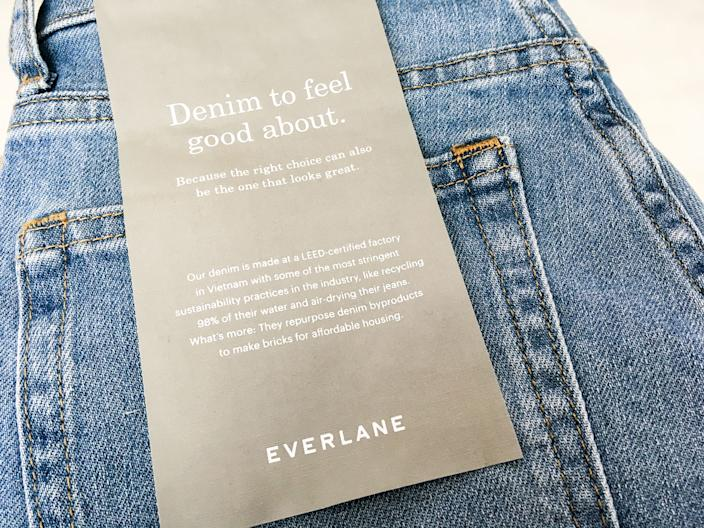 "A pair of Everlane jeans. <p class=""copyright"">Jessica Tyler/Business Insider</p>"