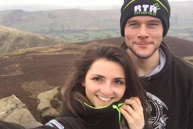 Daniel Hegarty pictured with Lucy Draycott before his tragic accident: Lucy Draycott