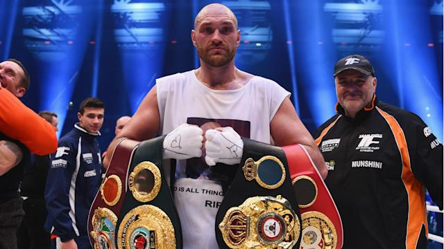 Boxer Tyson Fury gave up his world titles as he focuses on overcoming personal issues.