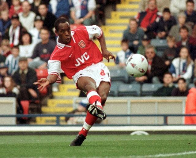 Ian Wright in his playing days at Arsenal