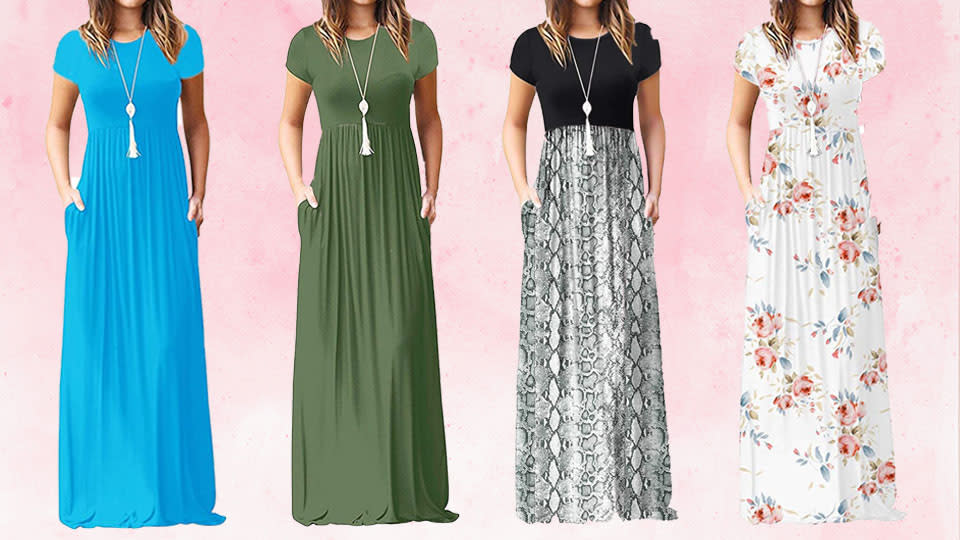 The Viishow maxi dress is the perfect everyday summer frock, and it's on sale! (Photo: Amazon)