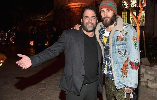 Jared and Brett at the Playboy Mansion. Source: Getty