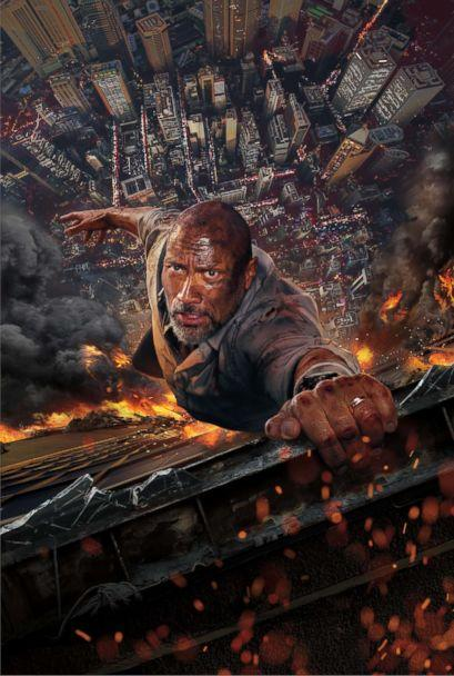 PHOTO: Dwayne Johnson in a scene from 'Skyscraper.' (Universal Pictures)