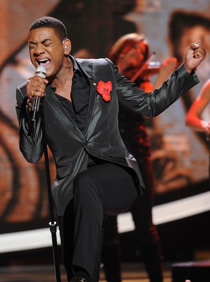"Josh Ledet performs ""It's a Man's Man's Man's World"" by James Brown on ""<a target=""_blank"" href=""http://tv.yahoo.com/american-idol/show/34934"">American Idol</a>."""