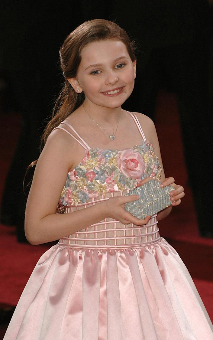 Abigail Breslin arrives for the 79th Academy Awards (Oscars) at the Kodak Theatre, Los Angeles in 2007.