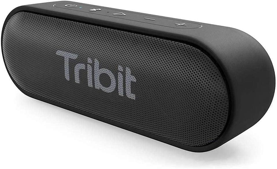 <p>From the shower to the beach, the waterproof <span>Tribit XSound Go Speaker</span> ($37) has a 24-hour playtime and provides a deep bass.</p>