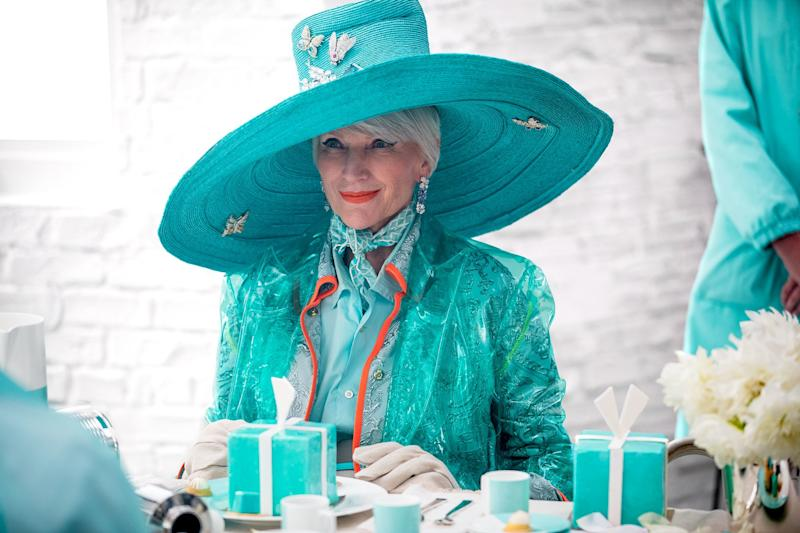 Maye Musk, behind the scenes of Tiffany & Co.'s new holidays campaign.