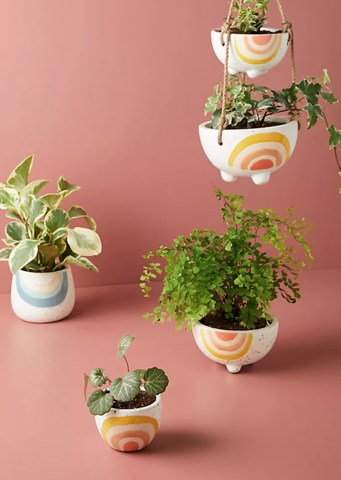 """<h2><a href=""""https://www.anthropologie.com/shop/iris-rainbow-pot2"""" rel=""""nofollow noopener"""" target=""""_blank"""" data-ylk=""""slk:Anthropologie Iris Rainbow Pot"""" class=""""link rapid-noclick-resp"""">Anthropologie Iris Rainbow Pot<br></a></h2><br>For the mother-in-law who's also a proud plant parent, consider some beautifully handcrafted earthenware to house her seedlings. <br><br><strong>Anthropologie</strong> Iris Rainbow Pot, $, available at <a href=""""https://go.skimresources.com/?id=30283X879131&url=https%3A%2F%2Fwww.anthropologie.com%2Fshop%2Firis-rainbow-pot2"""" rel=""""nofollow noopener"""" target=""""_blank"""" data-ylk=""""slk:Anthropologie"""" class=""""link rapid-noclick-resp"""">Anthropologie</a>"""