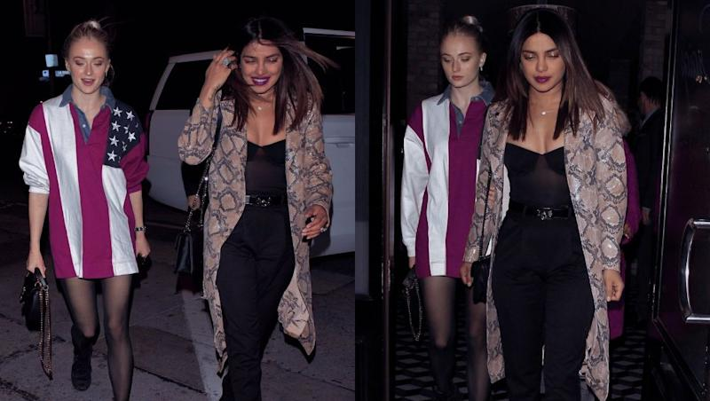 Priyanka Chopra and Sophie Turner Step Out for Dinner and We Wonder If They Discussed Game of Thrones or Bridesmaids Duties – View Pics