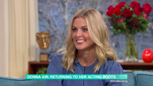 Donna Air is returning to acting after taking time off to raise her 16-year-old daughter (ITV)