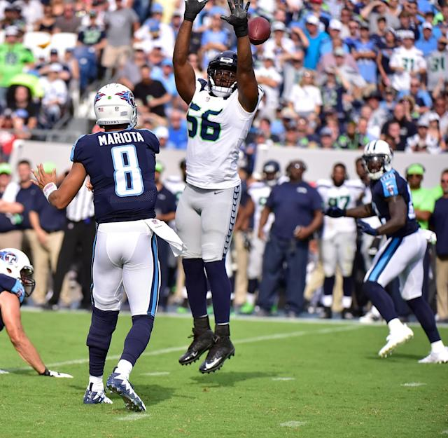 Seattle Seahawks defensive end Cliff Avril tells Yahoo Sports that he is not pondering retirement. (Getty Images)