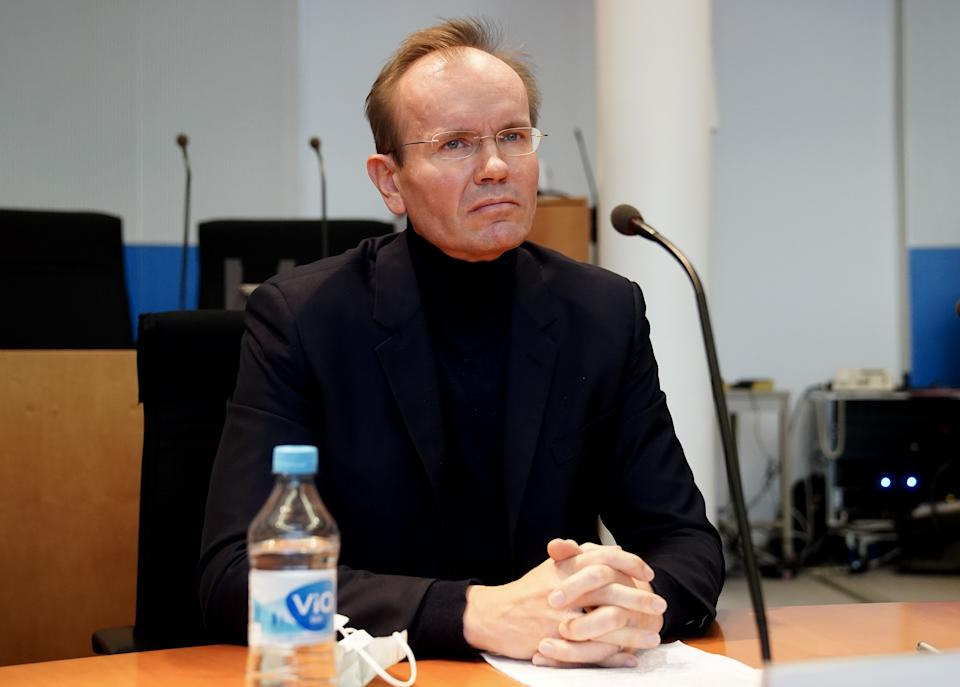 Markus Braun, former CEO of Wirecard, prepares to testify in front of the Bundestag commission investigating the Wirecard scandal on November 19, 2020 in Berlin, Germany. (Photo by Filip Singer, Pool/Getty)