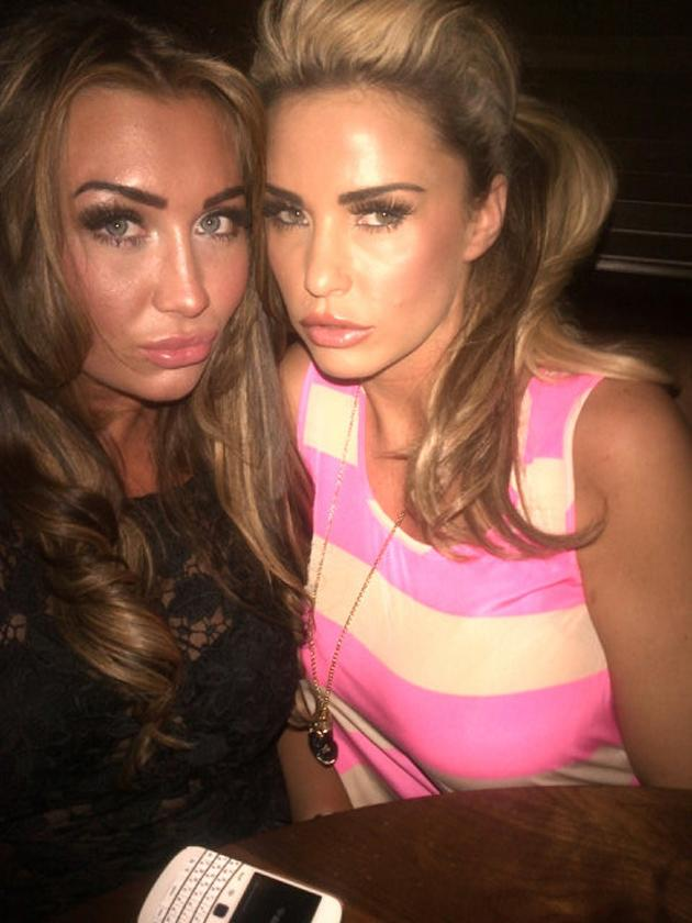 """Celebrity photos: It looks like TOWIE star Lauren Goodger has found herself a new BFF in the shape of Katie Price. Katie tweeted this photo of the pair together, saying: """"Having dinner with @laurengoodger in liverpool .. Such good night drinks and laughter"""" [sic] Copyright [Katie Price]"""