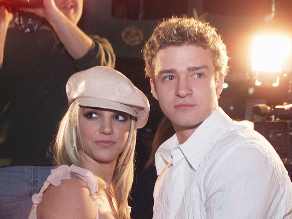Britney Spears and Justin Timberlake in 2002Getty Images