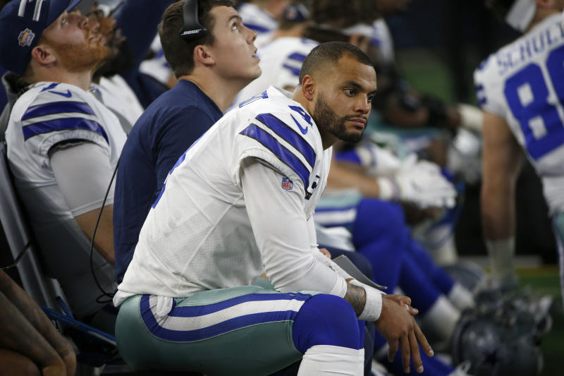 Dak Prescott and the Cowboys look to bounce back this week. (AP Photo/Ron Jenkins)