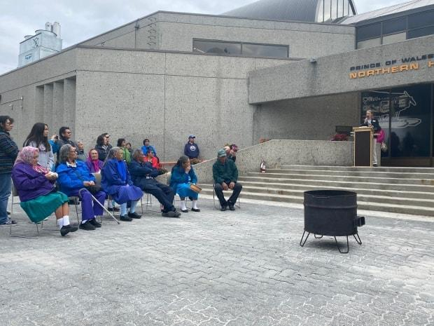 The opening of Treaty 11 — 100 Days was celebrated on July 16, 2021 at the Prince of Wales Heritage Centre with a fire feeding ceremony. (Treaty 11/CBC - image credit)