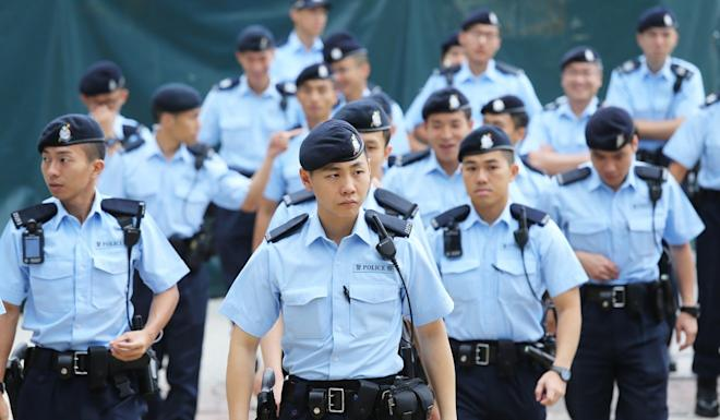 The new city budget unveiled on February 26 includes provisions that will boost the ranks of the Hong Kong Police Force by 2,500. Photo: Dickson Lee