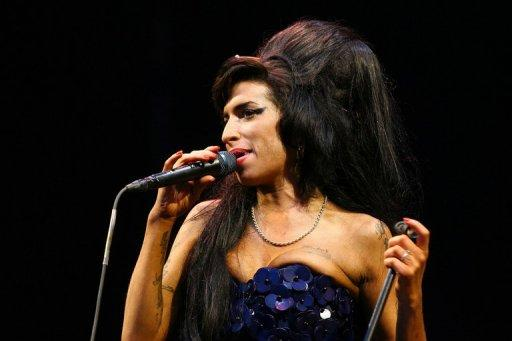 British singer Amy Winehouse performs at the Glastonbury Festival on June 28, 2008