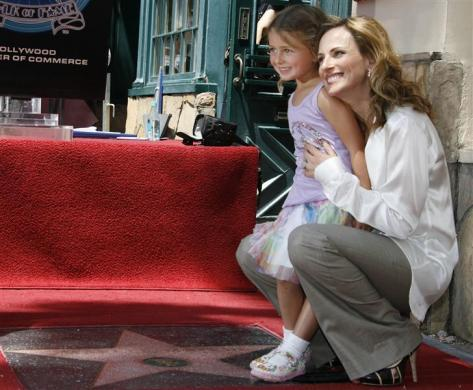 Actress Marlee Matlin and her daughter Isabelle as they unveil Matlin's star on the Hollywood Walk of Fame, May 6, 2009.