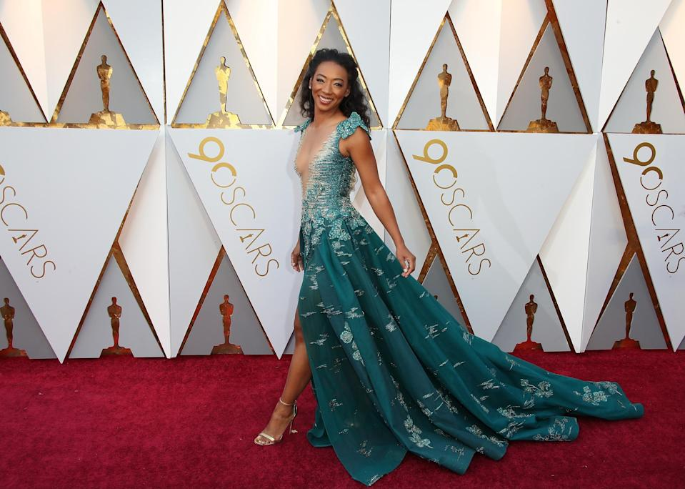 <p>Betty channelled some mermaid vibes with her flowing Oscars number (Getty Images) </p>
