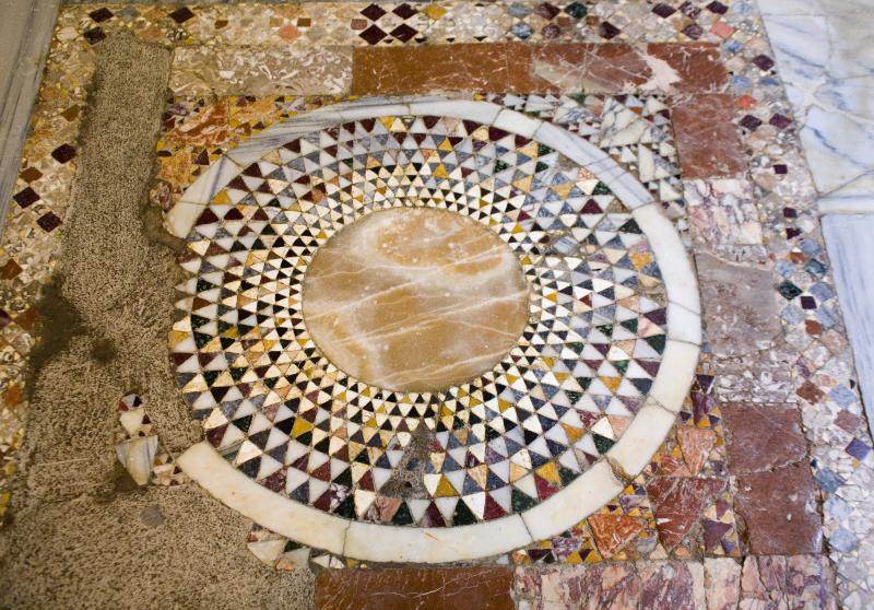 Cemil Karabayram, head of Antalya's Monument Authority, said it will take some time to examine the ground beneath the church, with them having to remove the mosaic tiling. (ullstein bild via Getty Images)