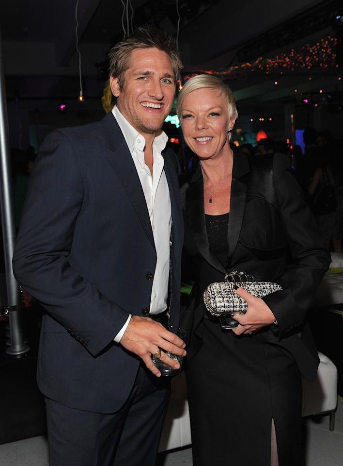 Curtis Stone and Tabitha Coffey attend Bravo's 2012 Upfront Event at Center 548 on April 4, 2012 in New York City.