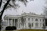 The White House lowered the US flag to half-staff to honor the victims of the shooting in Atlanta, Georgia