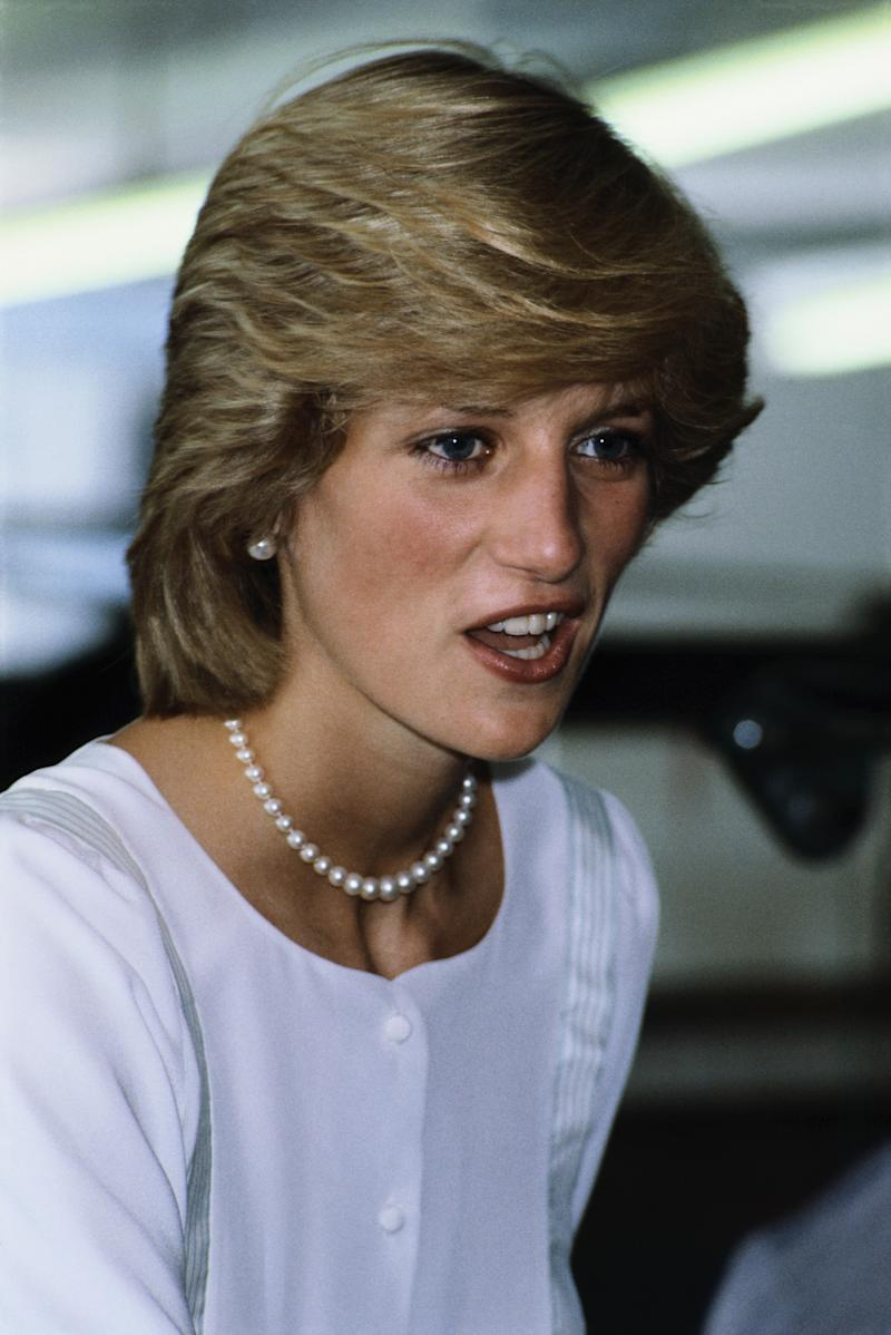 Princess Diana wearing a dress designed by Benny Ong, in 1983. (Photo by David Levenson/Getty Images)