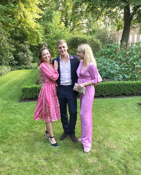 Alex living the aristocratic life with Flora and their cousin Zenouska Mowatt. Photo: Instagram