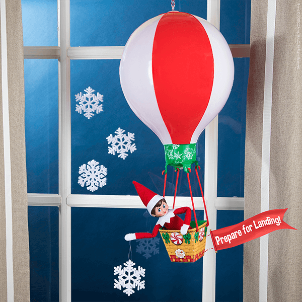 """<p>Go big this year by signaling the arrival of your family's Elf with a miniature hot air balloon (containing a secret message from Santa, no less).</p><p><strong>G</strong><strong>et the tutorial at <a href=""""https://www.elfontheshelf.com/blog/return-ideas"""" rel=""""nofollow noopener"""" target=""""_blank"""" data-ylk=""""slk:The Elf on the Shelf"""" class=""""link rapid-noclick-resp"""">The Elf on the Shelf</a>.</strong></p><p><strong><a class=""""link rapid-noclick-resp"""" href=""""https://www.amazon.com/Elf-Shelf-Peppermint-Balloon-Ride/dp/B07JCFTYDR/ref=sr_1_1?tag=syn-yahoo-20&ascsubtag=%5Bartid%7C10050.g.29656008%5Bsrc%7Cyahoo-us"""" rel=""""nofollow noopener"""" target=""""_blank"""" data-ylk=""""slk:SHOP ELF BALLOON"""">SHOP ELF BALLOON</a></strong></p>"""